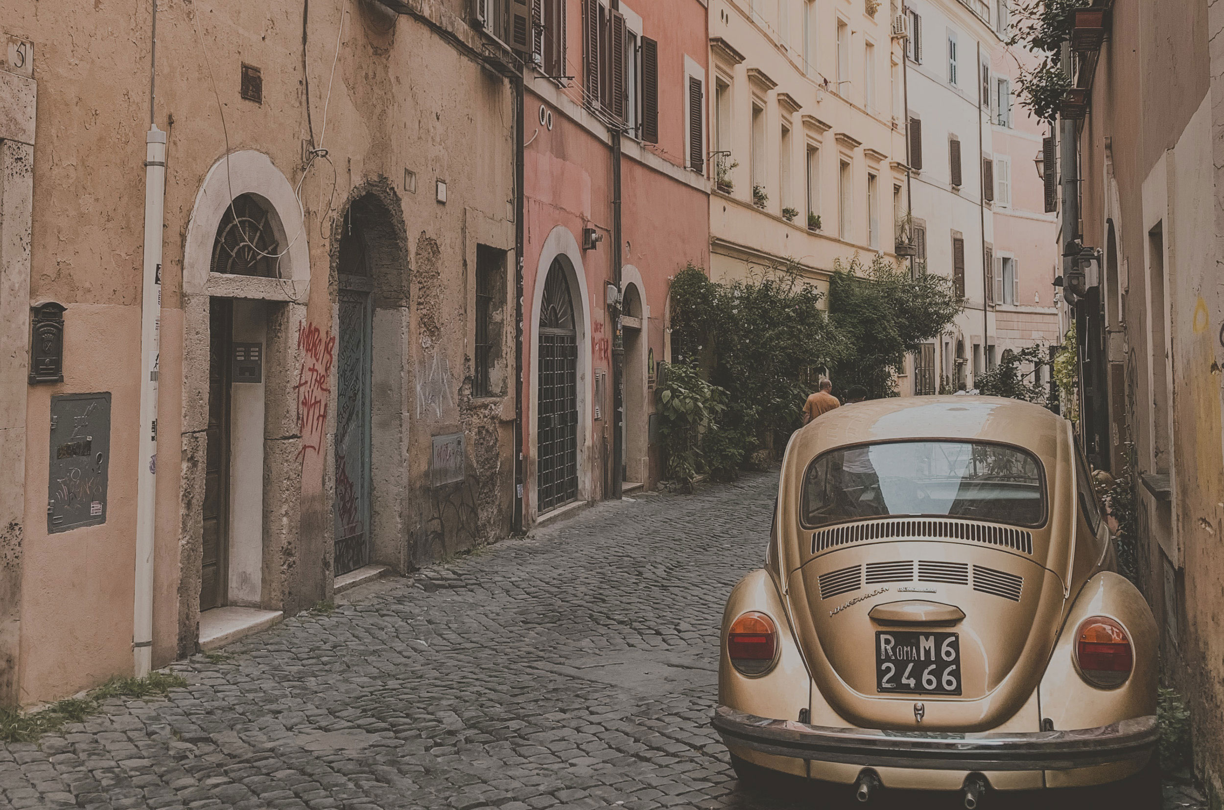 Smuk gade i Italien